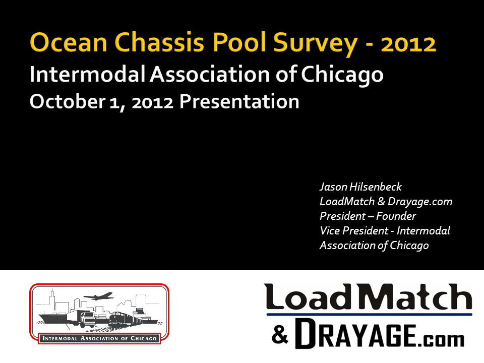 Jason Hilsenbeck LoadMatch & Drayage.com President – Founder Vice President - Intermodal Association of Chicago