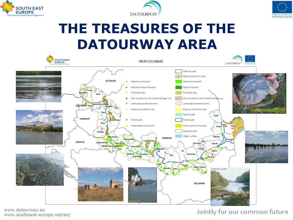 THE TREASURES OF THE DATOURWAY AREA The Danube Delta is the richest biodiversity area in Europe.