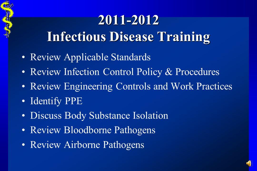 Infectious Disease Training Bloodborne & Airborne Pathogens Toggenburg Ski Patrol 2011 - 2012 Narrated by: Beau Blair