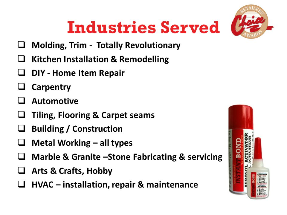 Industries Served Molding, Trim - Totally Revolutionary Kitchen Installation & Remodelling DIY - Home Item Repair Carpentry Automotive Tiling, Floorin