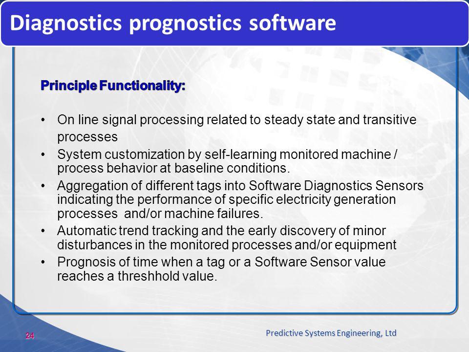 24 Predictive Systems Engineering, Ltd Diagnostics prognostics software
