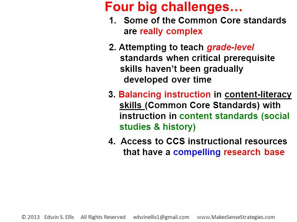 Four big challenges… 2.
