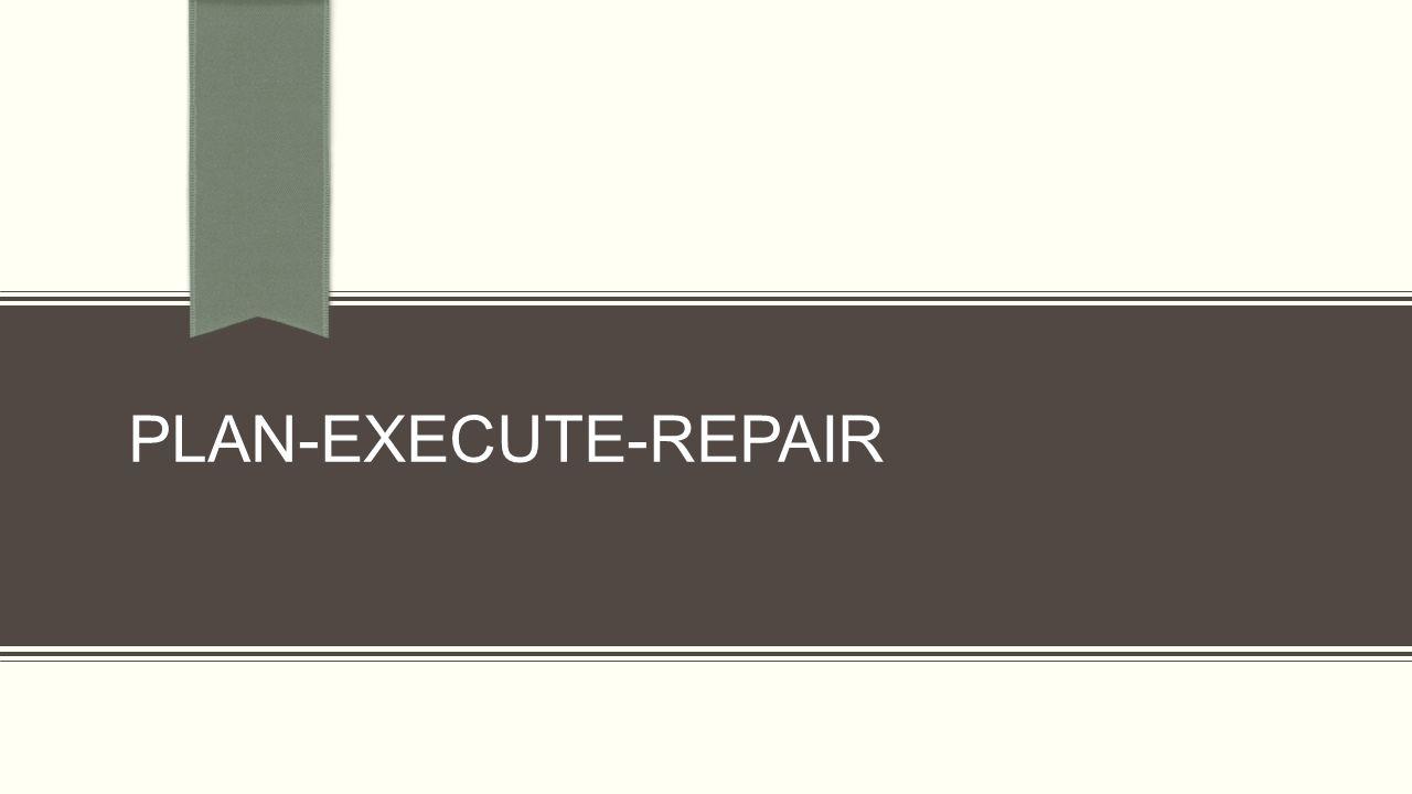 PLAN-EXECUTE-REPAIR