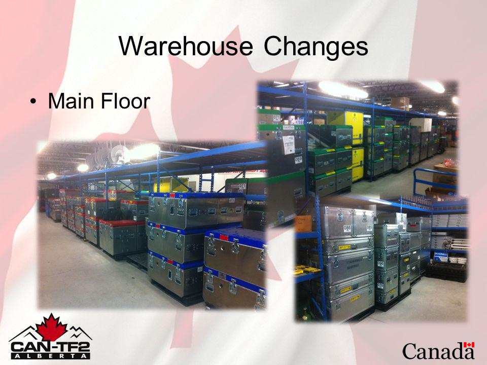 Warehouse Changes Main Floor