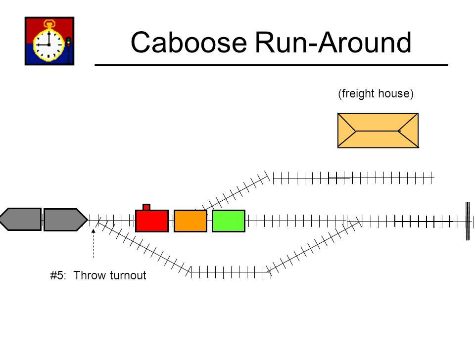 Caboose Run-Around (freight house) #4: Run-around entire train