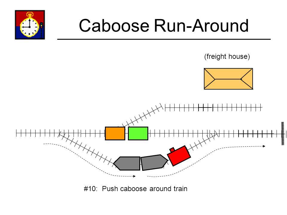 Caboose Run-Around (freight house) #9: Throw turnout points.
