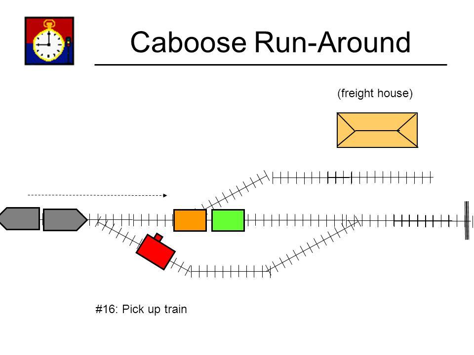 Caboose Run-Around (freight house) #15: Throw turnout