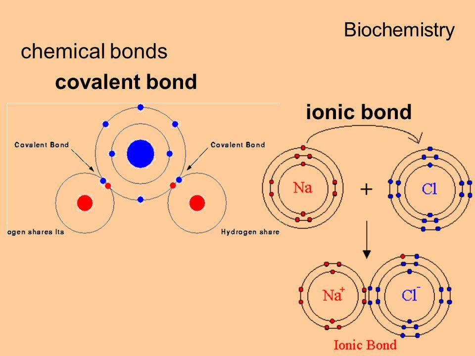 chemical bonds covalent bond ionic bond Biochemistry