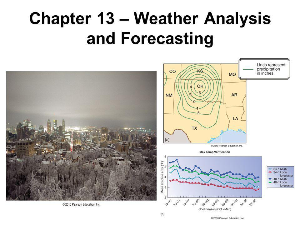 Weather Analysis Forecaster awareness is a major aspect of forecasting, and focuses on knowing the current atmospheric conditions using: