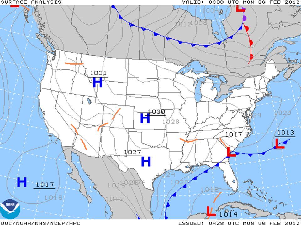 Air Mass Types Temperature/ Moisture HotCold WetTropical Maritime Polar Maritime DryTropical Continental Polar Continental