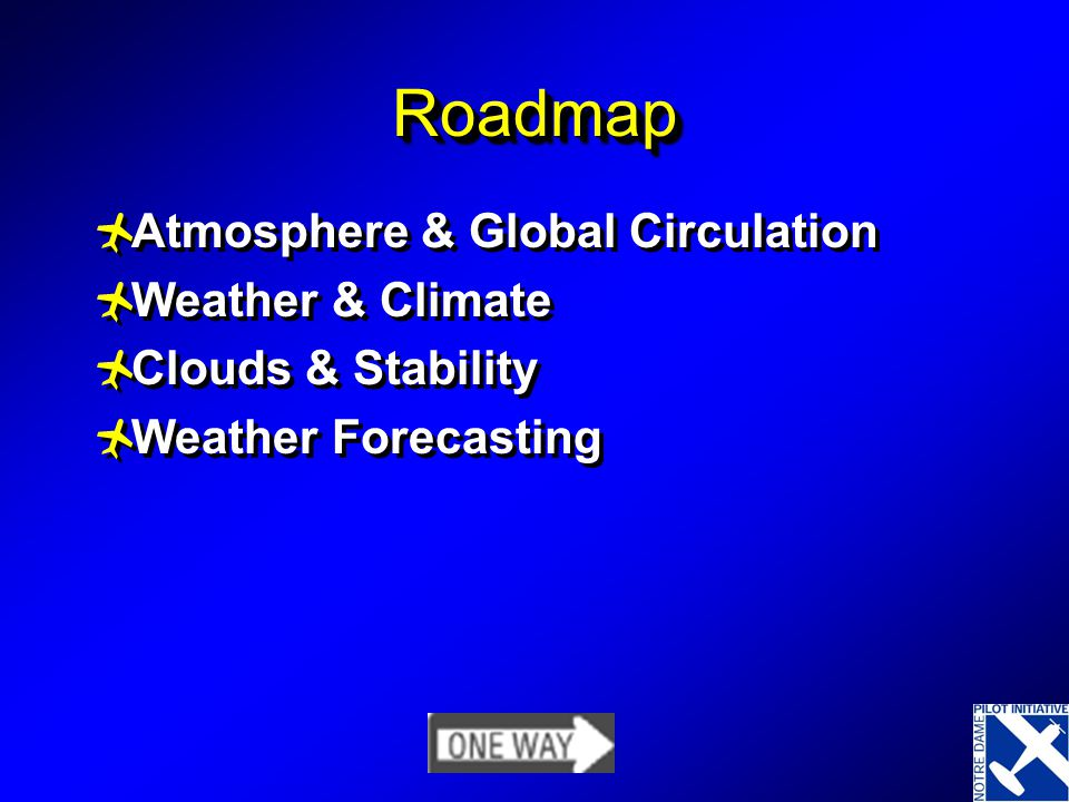 RoadmapRoadmap Atmosphere & Global Circulation Weather & Climate Clouds & Stability Weather Forecasting Atmosphere & Global Circulation Weather & Climate Clouds & Stability Weather Forecasting