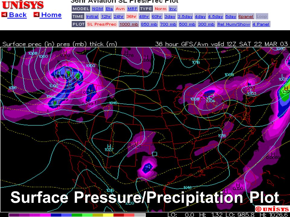 Weather Predictions Weather predictions are based on information about air masses, fronts, and associated pressure systems in an area. This informatio