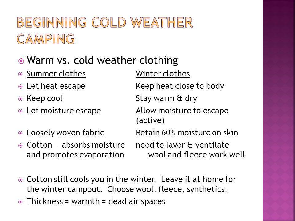 Warm vs.