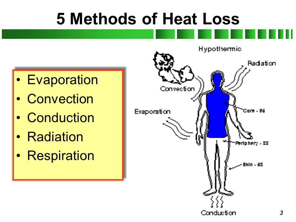 14 Dehydration Cause - loss of body moisture –Dry air.