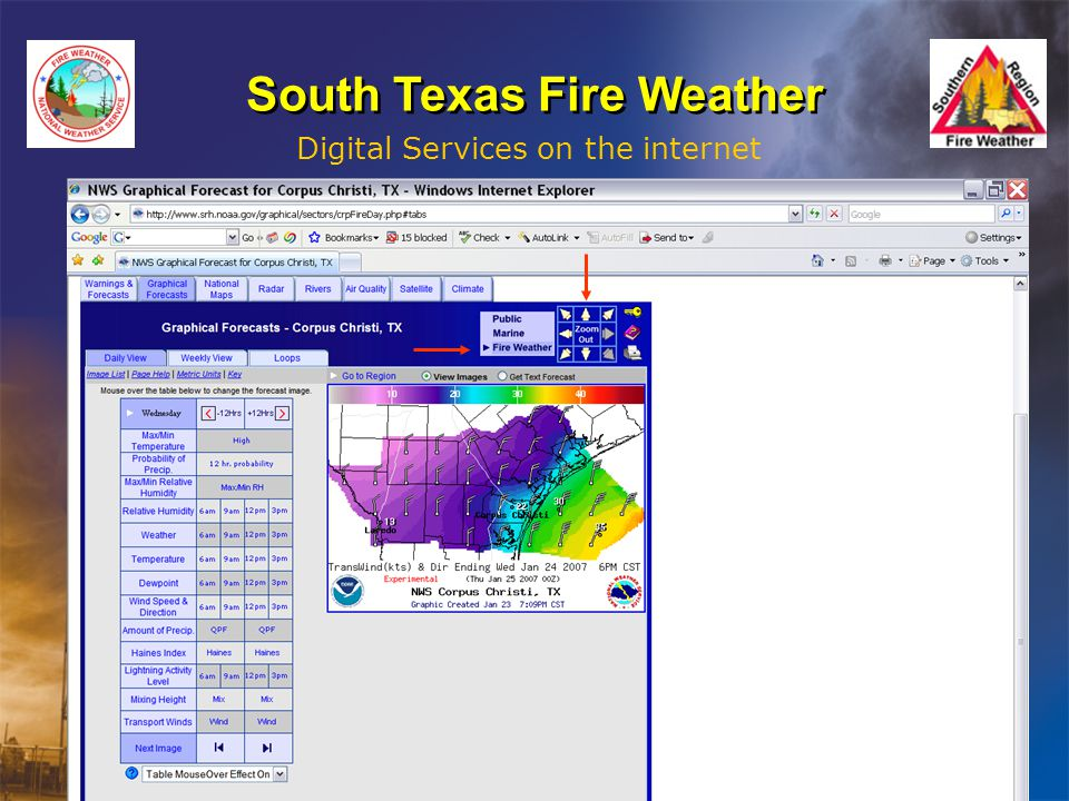 South Texas Fire Weather Digital Services on the internet