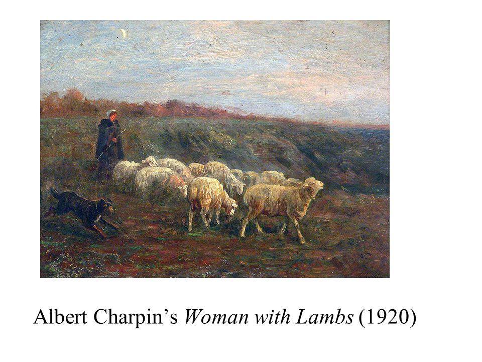 Albert Charpins Woman with Lambs (1920)