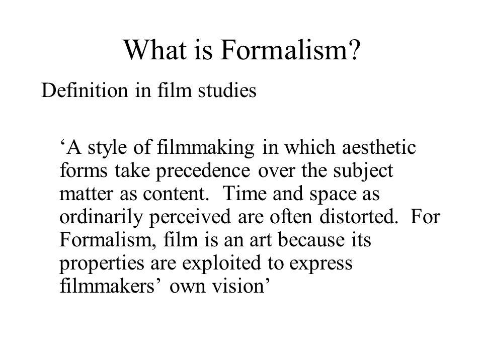 What is Formalism.