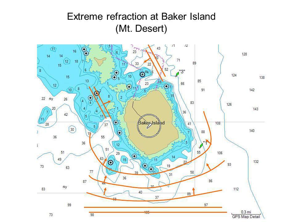 Extreme refraction at Baker Island (Mt. Desert)