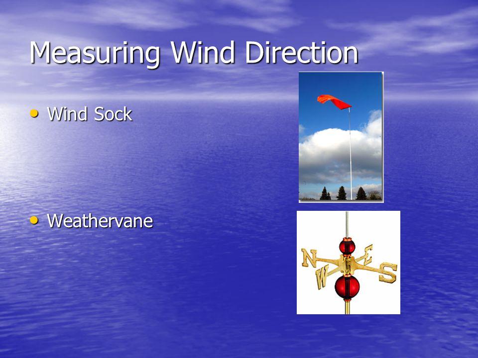 Measuring Wind Direction Wind Sock Wind Sock Weathervane Weathervane