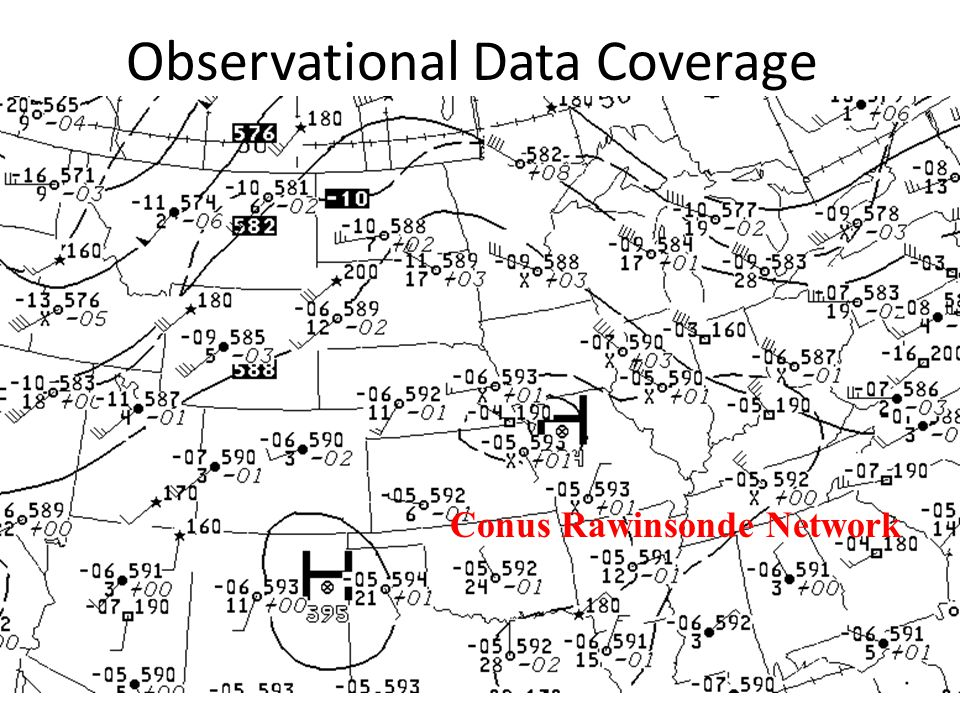 Observational Data Coverage Conus Rawinsonde Network