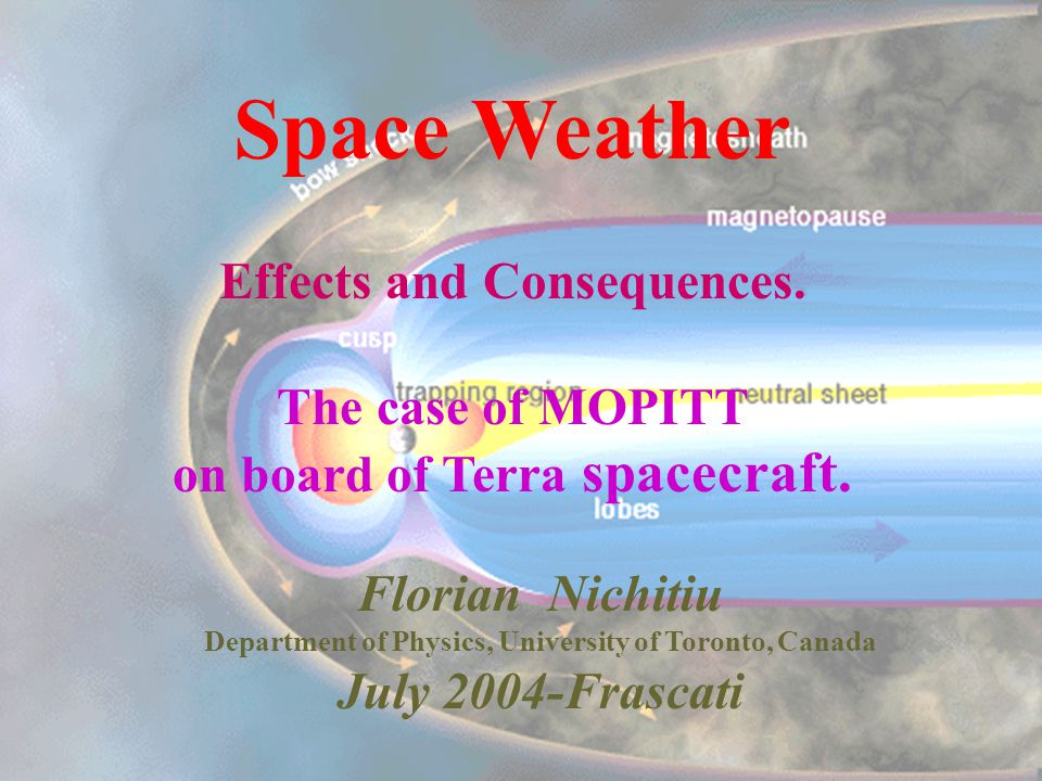 Space Climate/Weather Space Climate/Weather refers to changes in the space environment and effects that those changes have on Earth and mankinds activities.