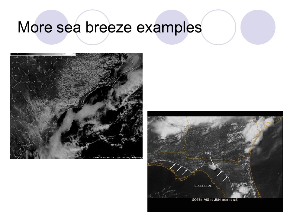 More sea breeze examples