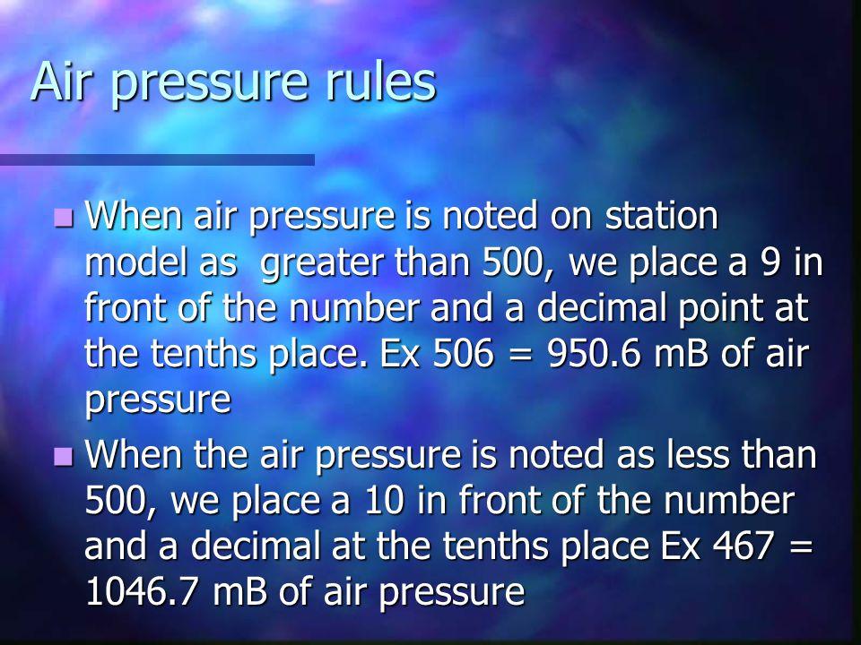 Air Pressure Air pressure (H or L) is measured with a device called a barometer Air pressure (H or L) is measured with a device called a barometer Uni