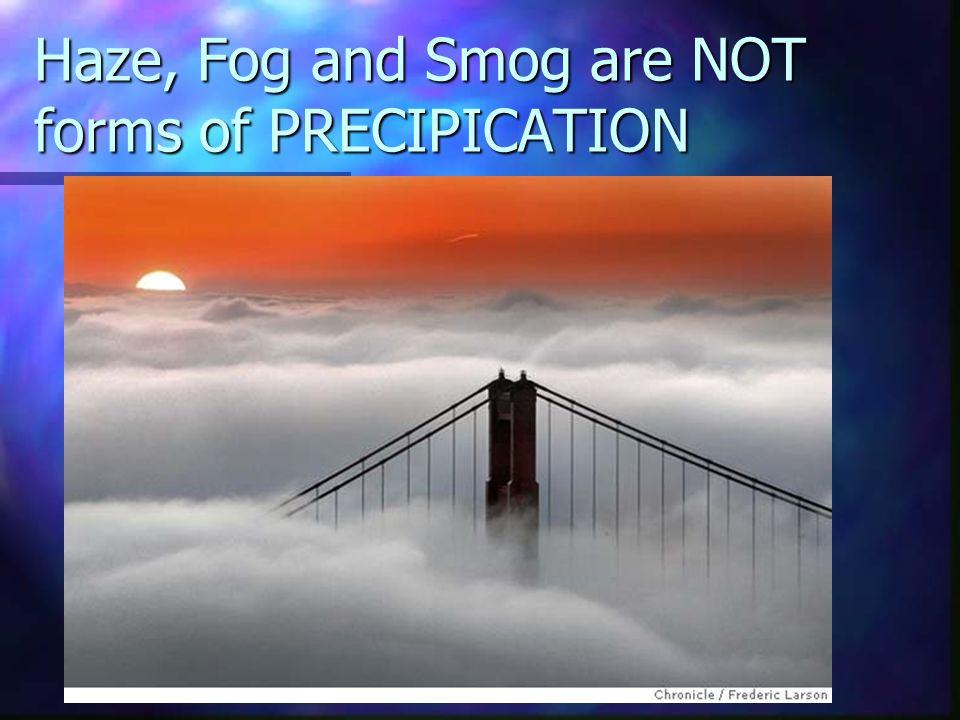 Types of precipitation Rain- Falls from clouds above Freezing and air above freezing Rain- Falls from clouds above Freezing and air above freezing Dri