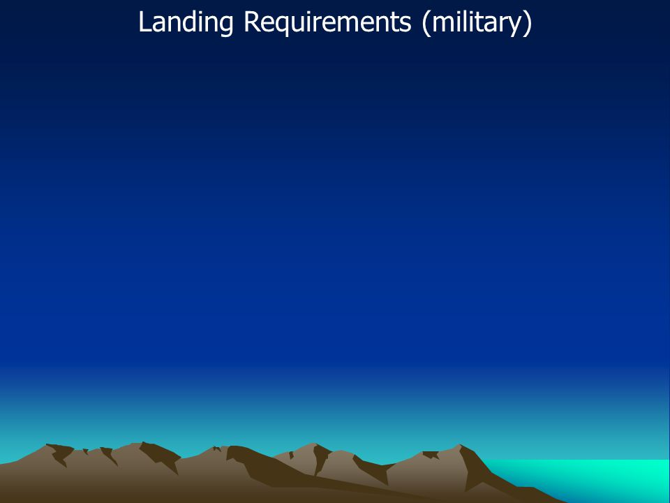 Landing Requirements (military)