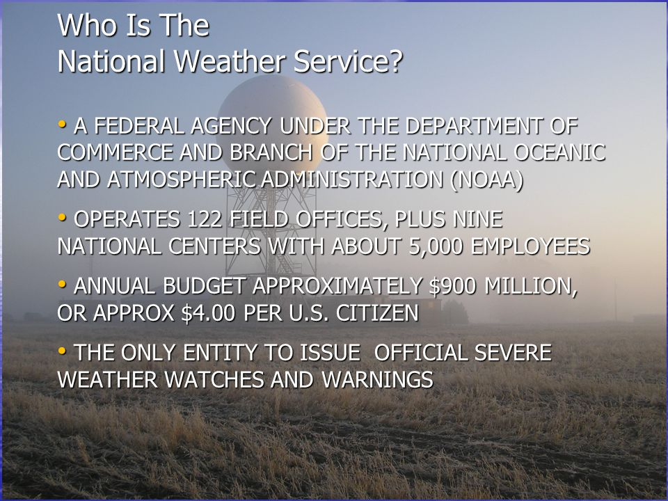 Who Is The National Weather Service.