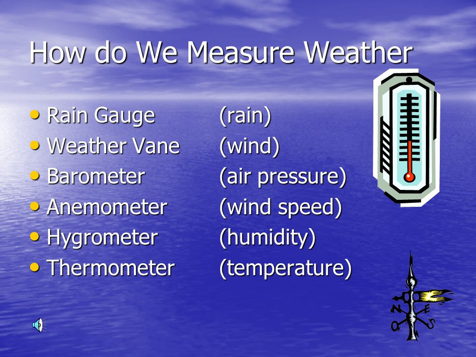 What are the different factors that control patterns in weather Temperature Temperature Humidity Humidity Wind Speed and Direction Wind Speed and Direction Cloudiness Cloudiness Air Pressure Air Pressure Precipitation Precipitation