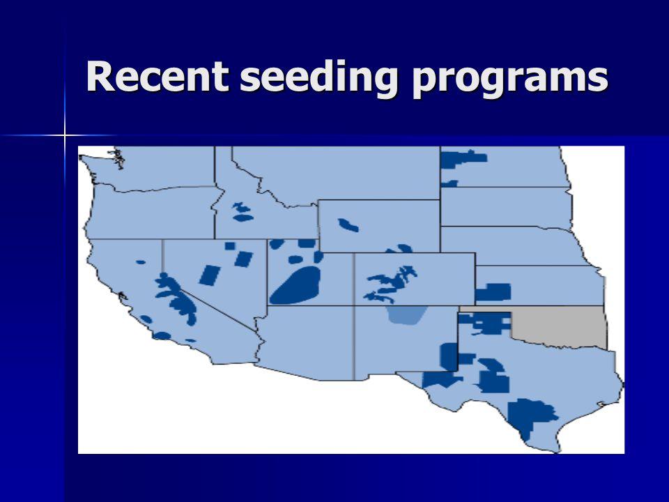 Recent seeding programs