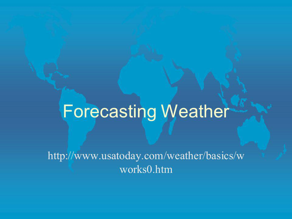 Forecasting Weather http://www.usatoday.com/weather/basics/w works0.htm