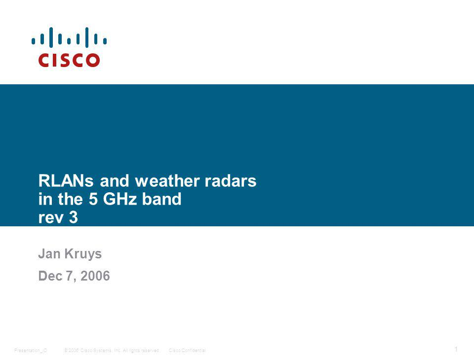 © 2006 Cisco Systems, Inc.
