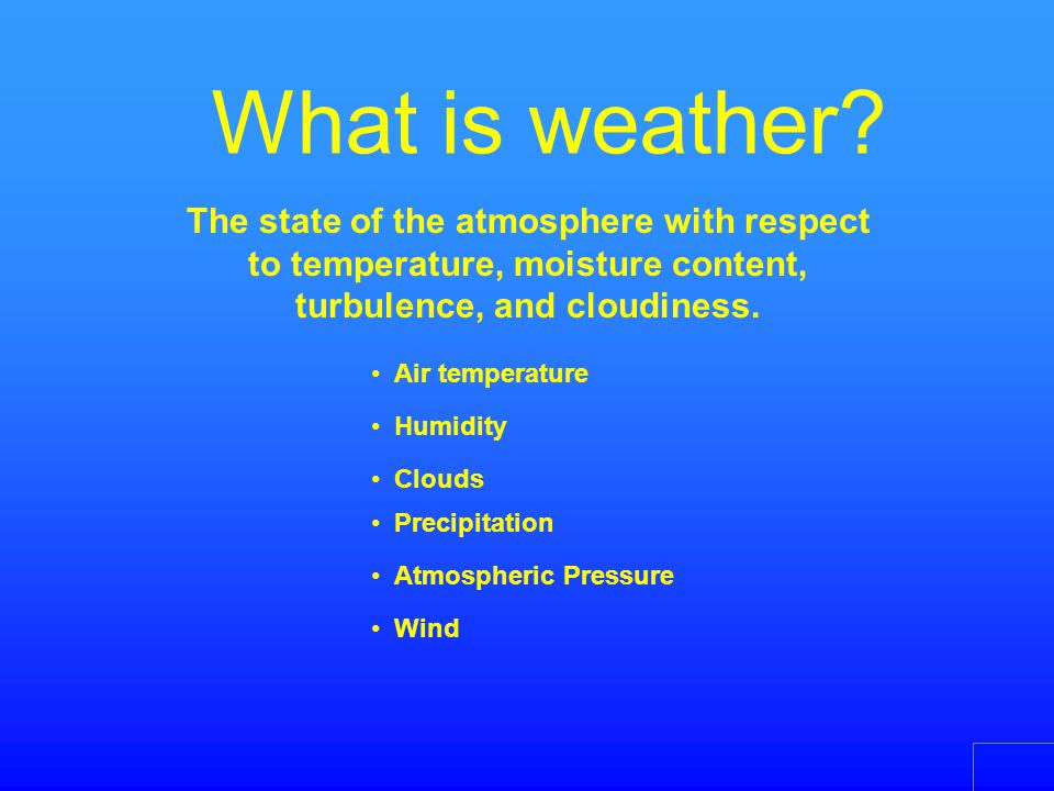 Why is weather important? Weather affects everything we do!
