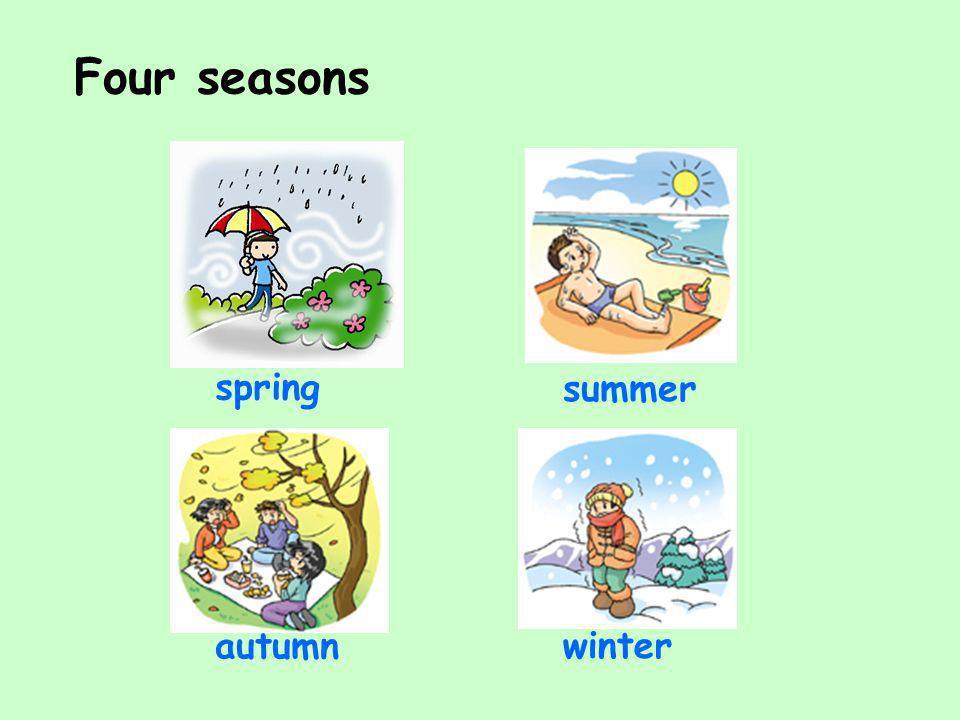Four seasons spring summer autumn winter