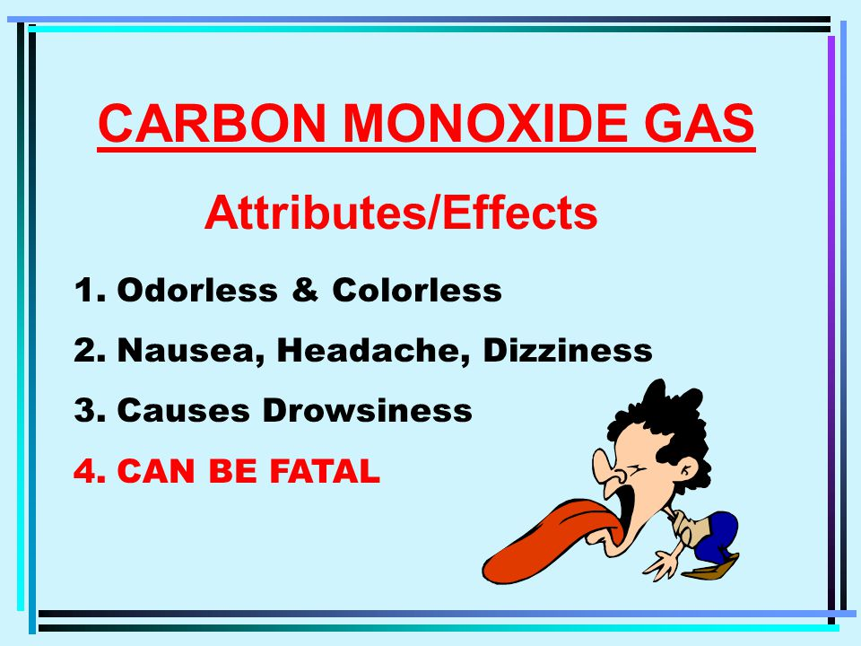 !!. DANGER !!. CARBON MONOXIDE POISONING Each year 1,500 people are killed in the U.S.