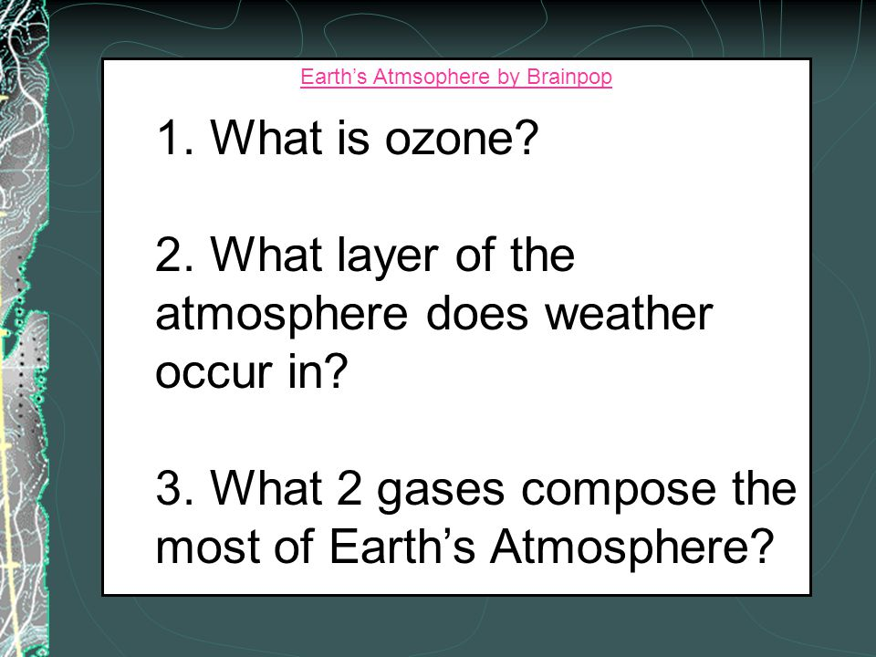 Exosphere - the outermost layer of the Earth's atmosphere, where atmospheric pressure and temperature are low. Ionosphere - the atmospheric layer betw