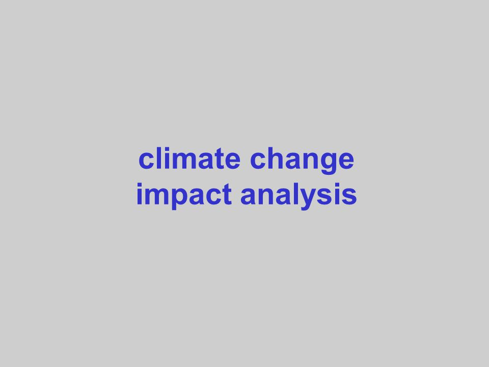 climate change impact analysis