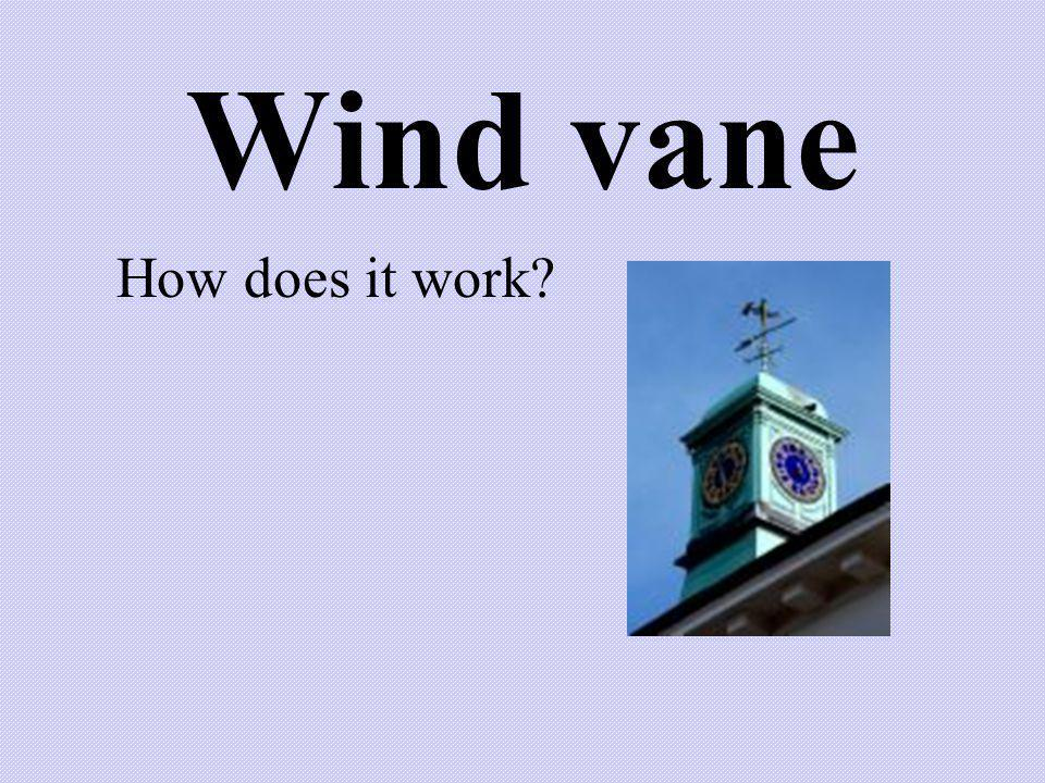 Wind vane How does it work?