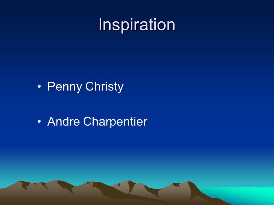 Inspiration Penny Christy Andre Charpentier