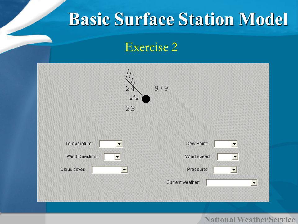 National Weather Service Basic Surface Station Model Exercise 2