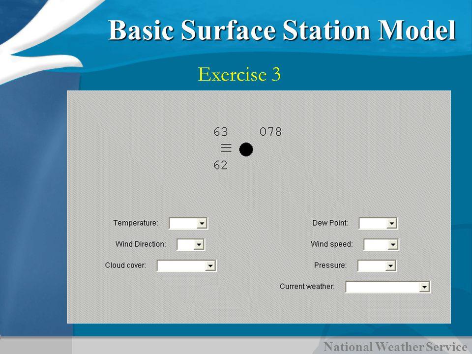 National Weather Service Basic Surface Station Model Exercise 3