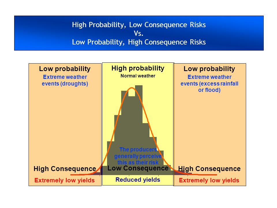 High Probability, Low Consequence Risks Vs.