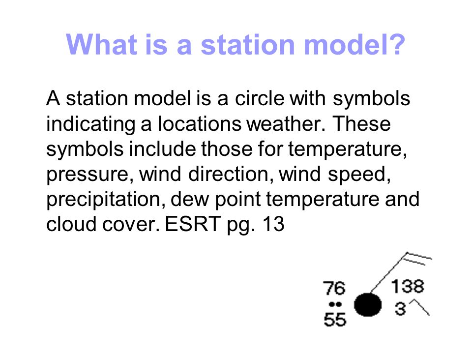 On a station model, how is pressure represented.How can it be rewritten.