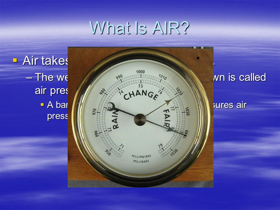 What Is AIR? The layer of gases that surrounds the Earth is called the atmosphere. The layer of gases that surrounds the Earth is called the atmospher