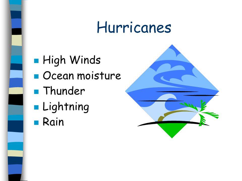Mudslides n Down-pour of rain n Loose earth n Hills/Mountains