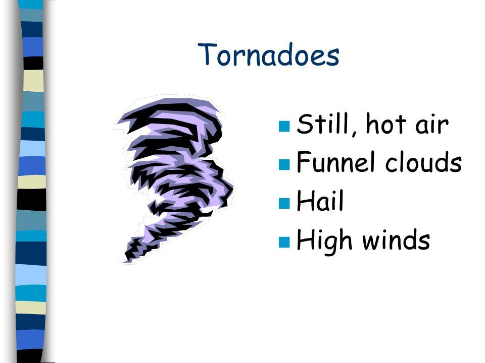 Hurricanes n High Winds n Ocean moisture n Thunder n Lightning n Rain