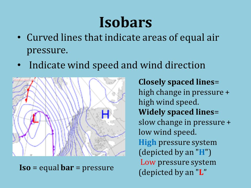 Low and High Pressure Systems When a cold front moves into a region and warm air is forced upward, an area of low pressure is created near Earths surface.
