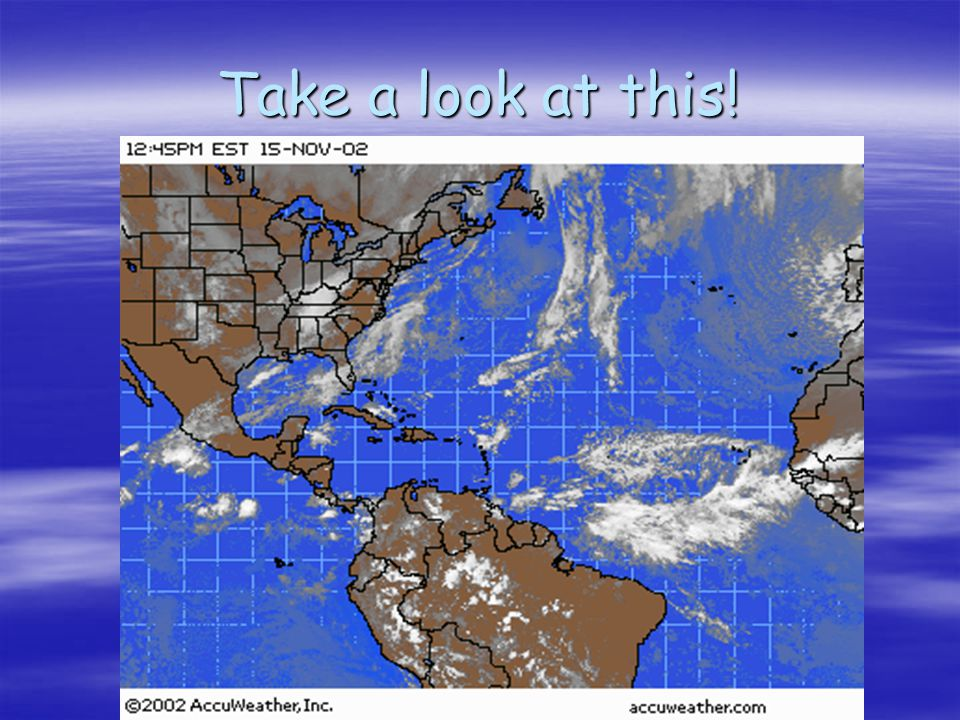 Notice the band of clouds around the equator ? This is the ITCZ or inter tropical convergence zone